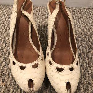 Zara sling back peep toe heels
